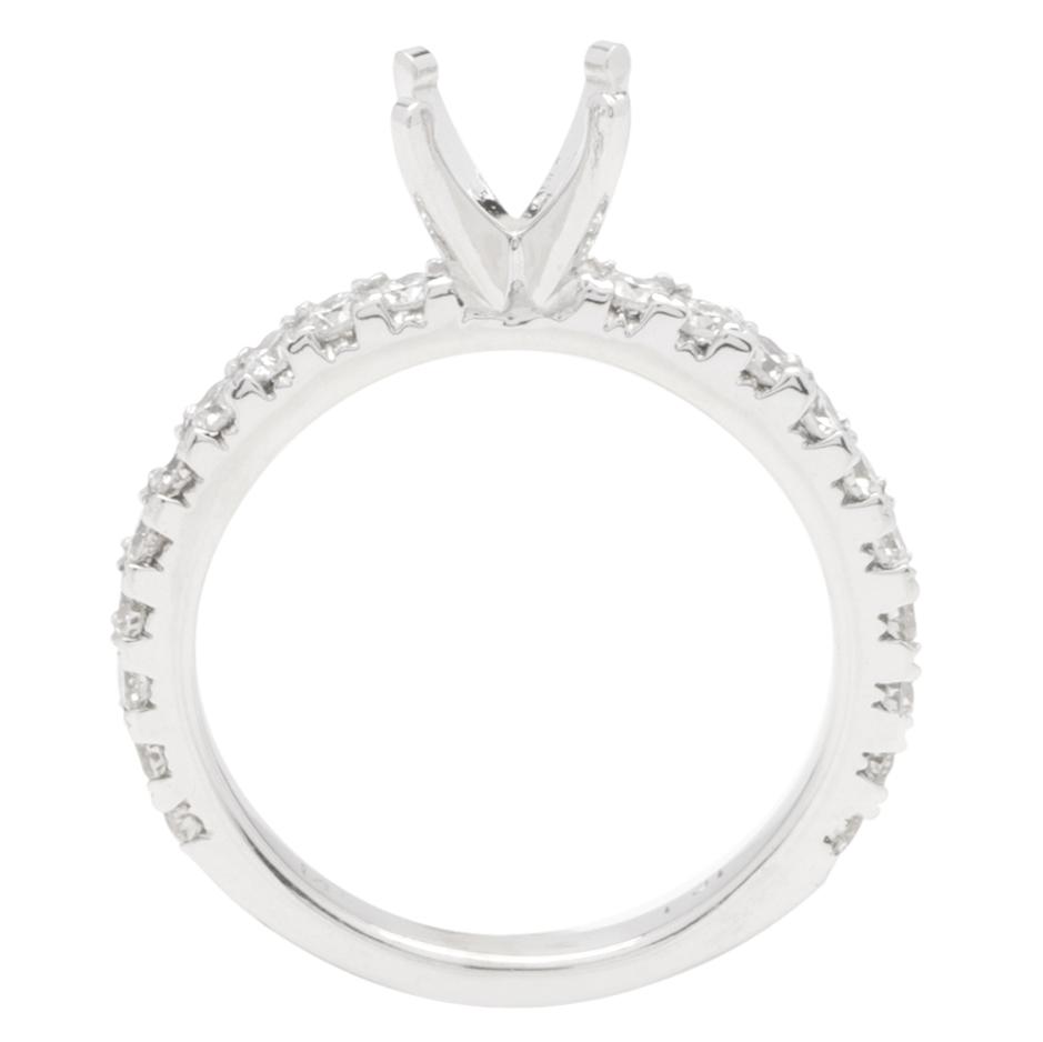 Kara Engagement Ring In 14K WG; 0.60 Ctw image 1