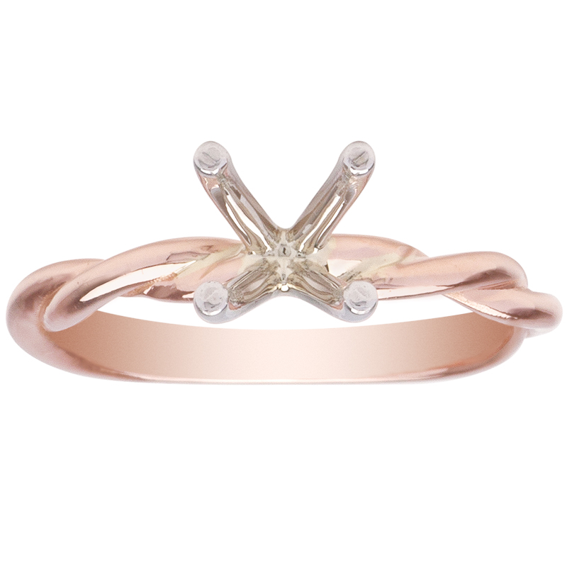 Intertwined Lovers Mounting 14K Rose Gold image 0