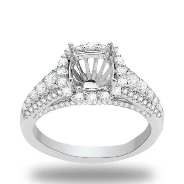 Annabelle Halo Diamond Engagement Ring; 0.90ctw image 0