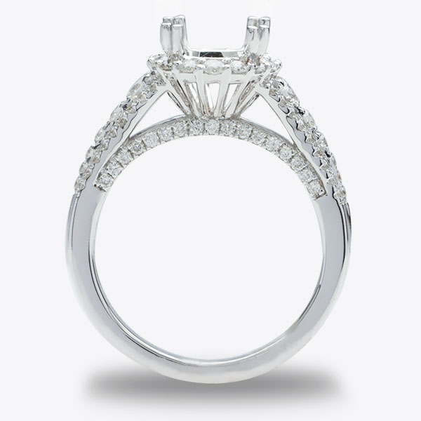 Annabelle Halo Diamond Engagement Ring; 0.90ctw image 1