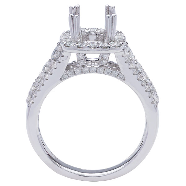 Ally Halo Diamond Engagement Ring; .90 ct image 1