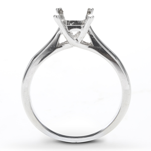 Delia Solitaire Ring in 14K White Gold image 1
