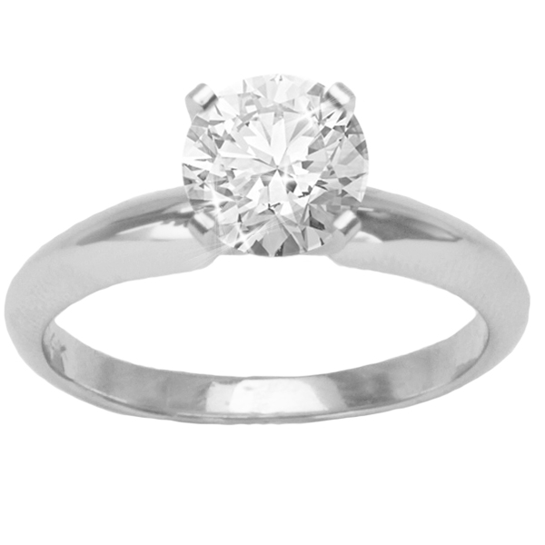 Aria Solitaire Setting in 14K White Gold image 1