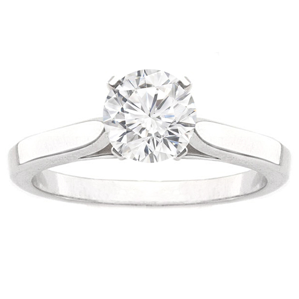Sophie Solitaire Ring Setting in 14K White Gold image 0