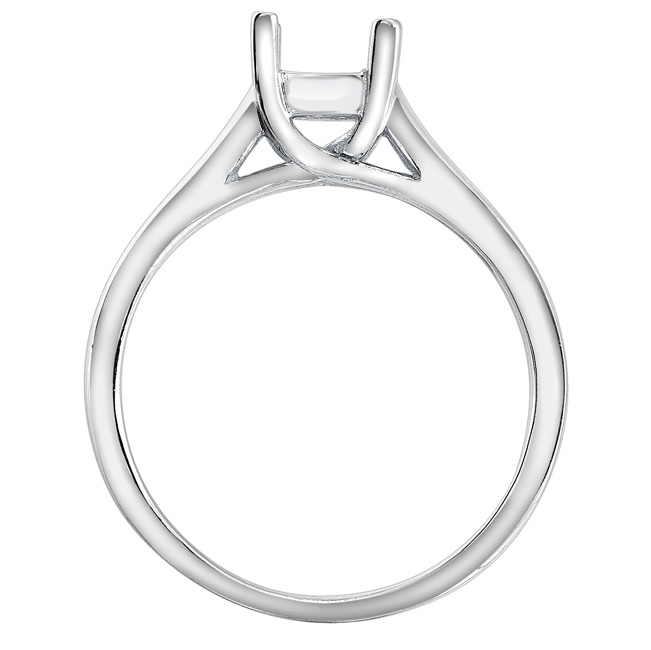 Lucy Solitaire Engagement Ring in 14K White Gold image 1