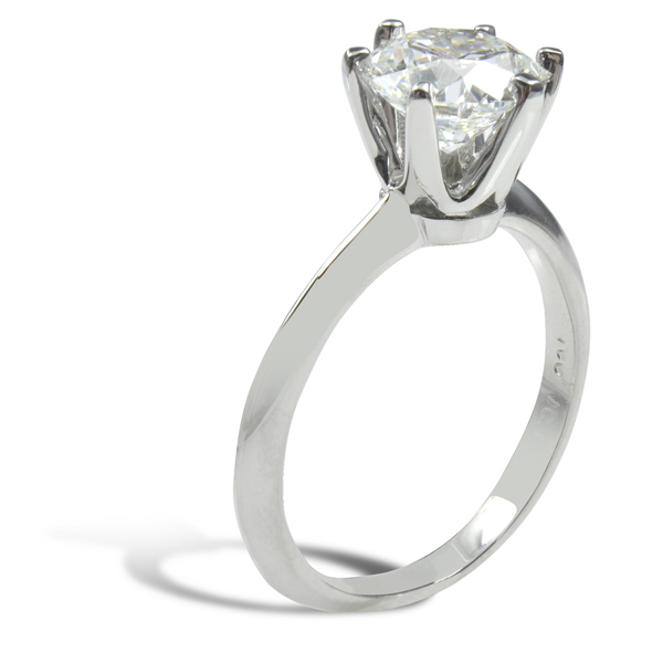 Marina Solitaire Ring Setting 14K White Gold image 1