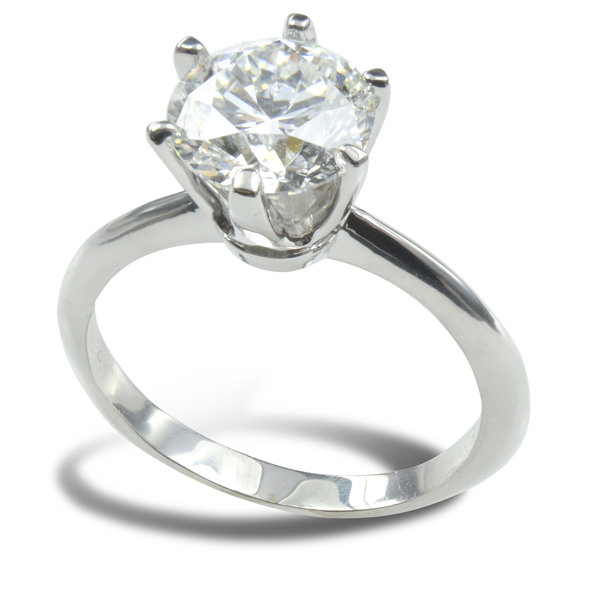 Marina Solitaire Ring Setting 14K White Gold image 0