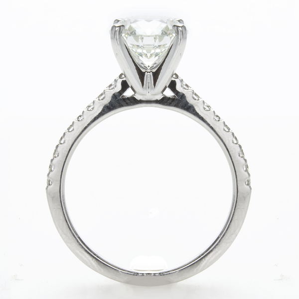 Emilia Petite Diamond Engagement Ring in 14K White Gold; .22 ctw image 1