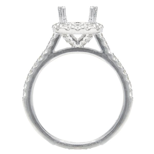 Aurora Cushion Halo Engagement Ring; .56 ctw image 1