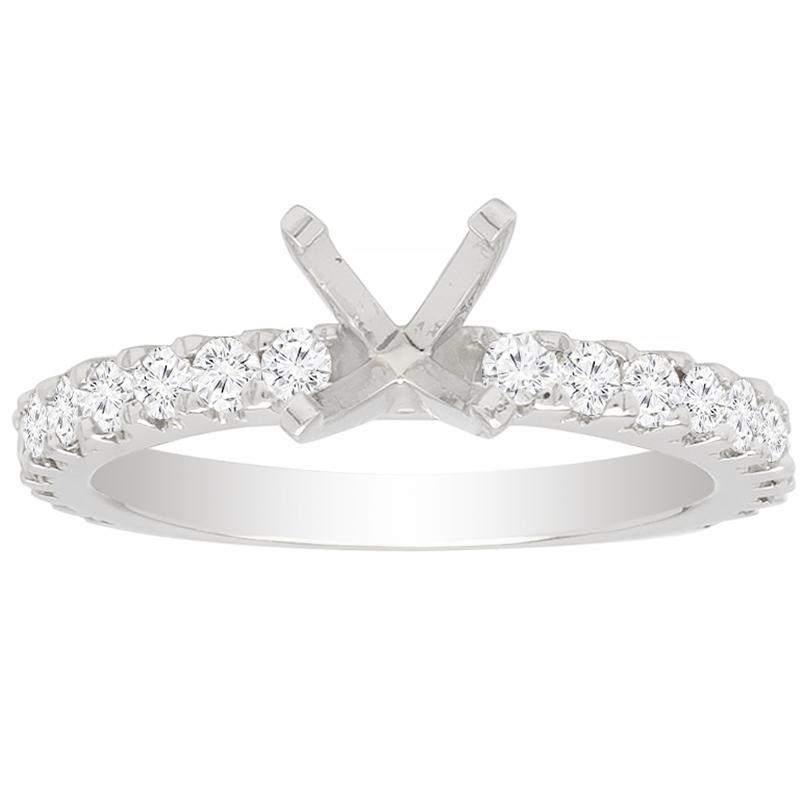 Kara Engagement Ring In 14K WG; 0.60 Ctw image 0