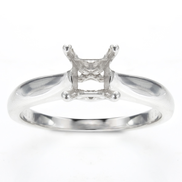Delia Solitaire Ring in 14K White Gold image 0