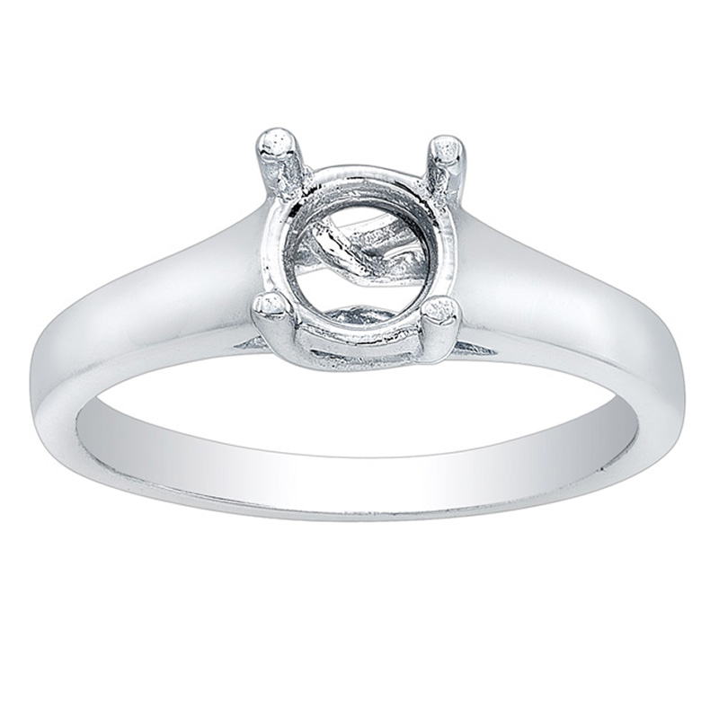 Lucy Solitaire Engagement Ring in 14K White Gold image 0