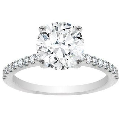 Emilia Petite Diamond Engagement Ring in 14K White Gold; 2.28 ctw