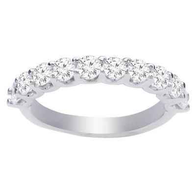 Allison Diamond Wedding Band in 14K White Gold; 1.0 ctw