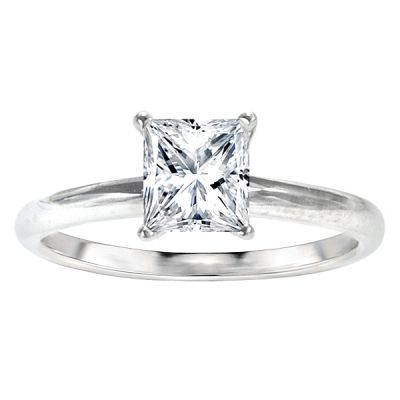 Stassi Solitaire Ring Setting in 14K White Gold