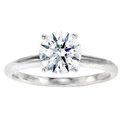 Carmen Solitaire Ring in 14K White Gold; 0.70 ctw