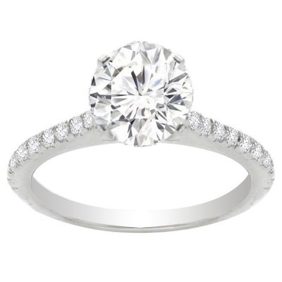Luna Petite Engagement Ring in 14K White Gold; 0.37 ctw