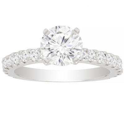 Olivia Diamond Engagement Ring in 14K White Gold; 2.57ct