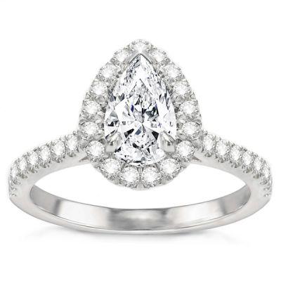 Delfina Diamond Engagement Ring in 14K White Gold; 1.36 ctw