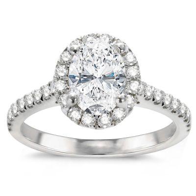 Diamond Engagement Ring in 14K White Gold- Farrah; 2.13