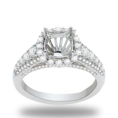 Annabelle Halo Diamond Engagement Ring; 0.90ctw
