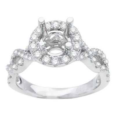 Riley Intertwined  Halo Engagement Ring; 0.66ctw