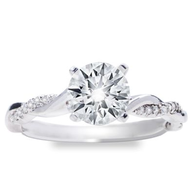 Alyssa Intertwined Engagement Ring in 14K White Gold; 0.20 ctw