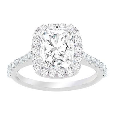 Jenna Halo Cushion Cut  Diamond Engagement Ring; 2.50ctw