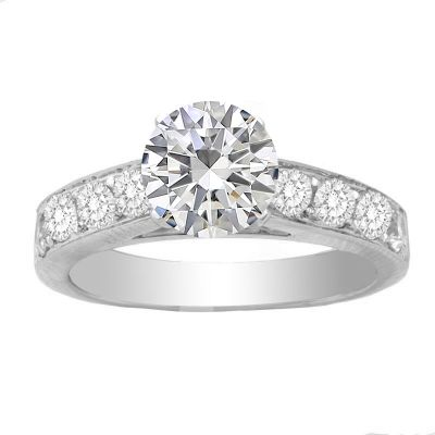 Alvera 14K White Gold Diamond Engagement Ring; 0.70 ctw