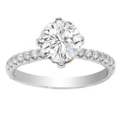 Sherilyn 14K White Gold Diamond Engagment Ring; .25 ctw