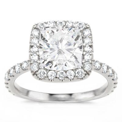 Elena Cushion Diamond Engagement Ring; 2.21 ctw