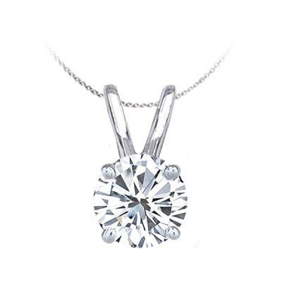 .50 ct Diamond Solitiare Pendant in 14K White Gold