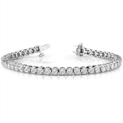 14K White Gold Diamond Bracelet: 5.00 ctw
