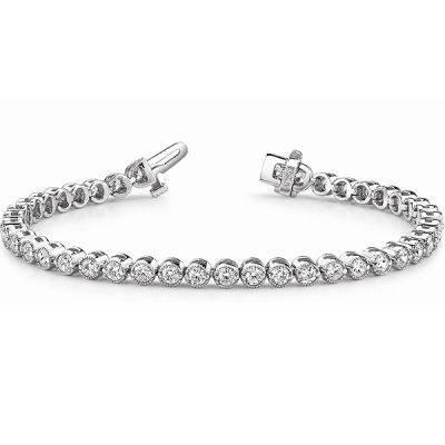 14K White Gold Diamond Bracelet: 4.00 ctw