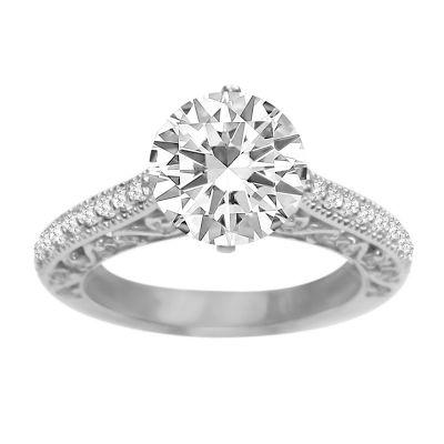Diamond Ring in 14K White Gold: 0.50 ctw