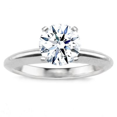 Avery Solitaire Setting in 14K White Gold