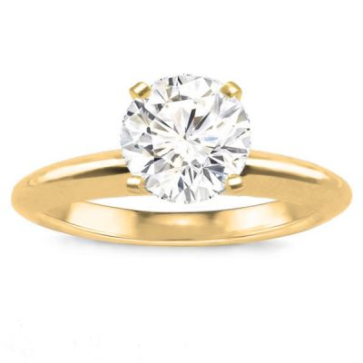Avery Solitaire Ring Setting in 14K Yellow Gold