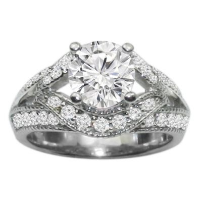 Fay Diamond Engagement Ring in 14K White Gold; 0.50 ctw