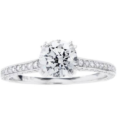 Veronica 14K White Gold Diamond Engagement Ring; .55 ctw