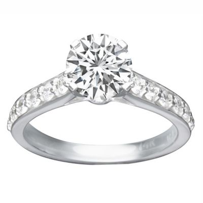 Angelica Diamond Engagement Ring in 14K White Gold; 0.45 ctw