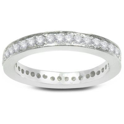 Vivianne White Gold and Diamond Eternity Women's Wedding Band