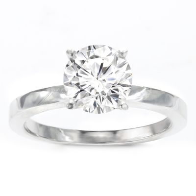 Rena Solitaire Ring Setting in 14K White Gold
