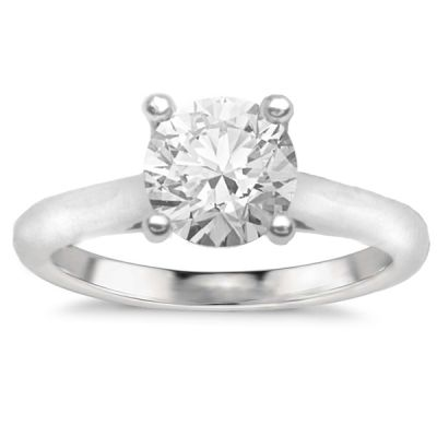 Anais Solitaire Setting in 14K White Gold