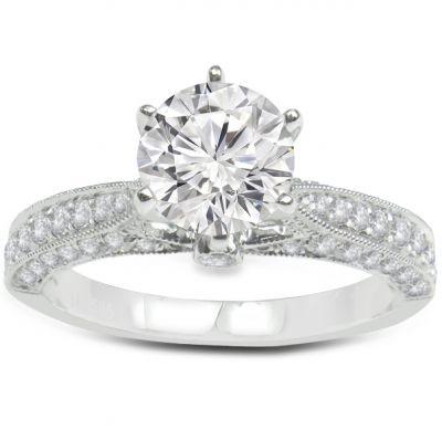 Penelope Diamond Engagement Ring in 14K White Gold; 0.50 ctw