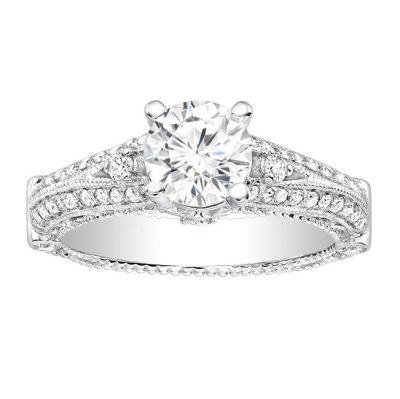 Zera Art Deco Inspired Diamond Engagement Ring; 0.45 ctw