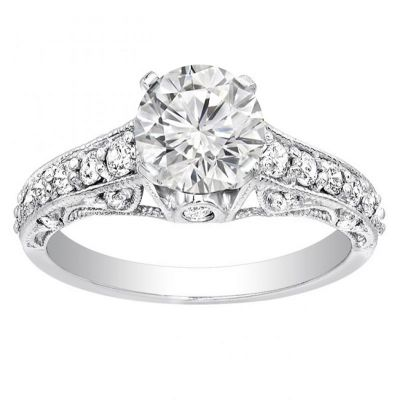 Anya Diamond Engagement Ring in 14K White Gold; 0.55 ctw