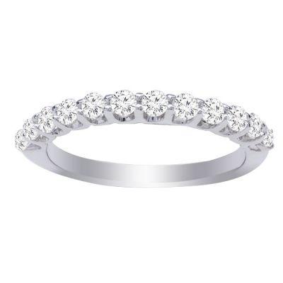 Alice Diamond Wedding Band in 14K White Gold; 0.50 ctw