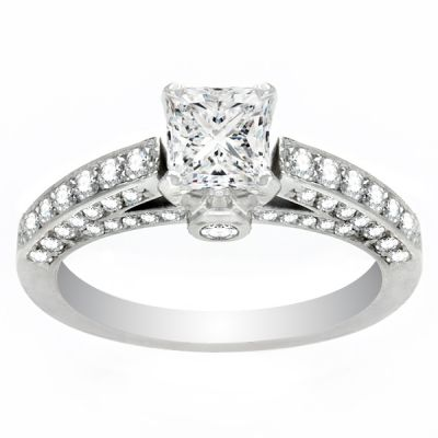 Alia Princess Engagement Ring in Platinum; 2.00 ctw