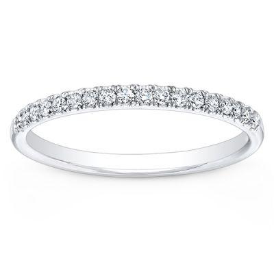 Bella Petite Diamond Wedding Band in 14K White Gold; .30 ctw