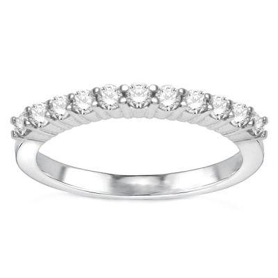 Gina 14K White Gold Diamond Wedding Band; .35 ct